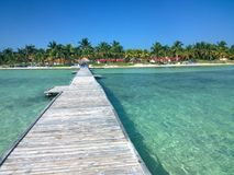 Cuban beach. Lovely view of the Cuban beach in Cayo Guilermo Stock Photo