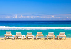 The cuban beach of Varadero on a summer day Stock Photos