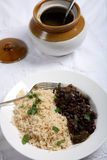 Cuban beans and rice vertical Stock Photography
