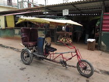 Cuban Bicycle Taxi Royalty Free Stock Image