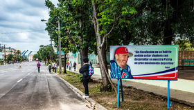 Cuban Billboard in Havana  Promoting Sports Programs Royalty Free Stock Photos