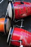 Cuban bongo. Detail of traditional afrocuban percussion instrument bongo stock image