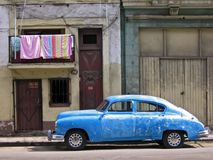 Cuban car. An old American car on a Cuban street stock images