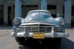 Cuban Car. Old Blue Class American Car at Old Havana, Cuba Royalty Free Stock Images