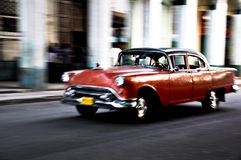 Cuban car running Royalty Free Stock Photography