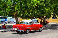 Cuban cars. Photos of vintage American and Soviet cars made in the streets of Havana. Royalty Free Stock Photos