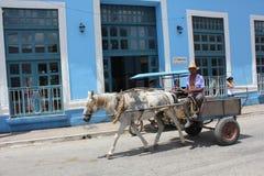 Cuban cart on the street Stock Photo