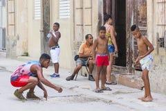 Cuban children in Havana street Royalty Free Stock Photo