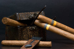 Cuban cigar stock photos