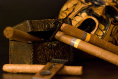 Cuban cigar Royalty Free Stock Images