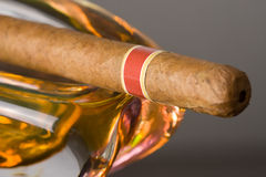 Cuban cigar in ashtray Stock Photo