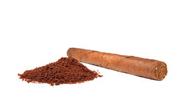 Cuban cigar and coffee Stock Images