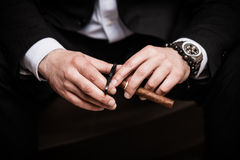 Cuban cigar Royalty Free Stock Images