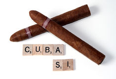 Cuban Cigars Royalty Free Stock Images