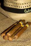 Cuban Cigars black and white Royalty Free Stock Image