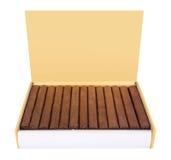 Cuban cigars box isolated on white Stock Photos