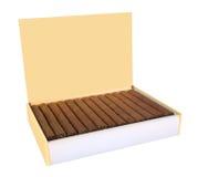 Cuban cigars box isolated on white Stock Photo