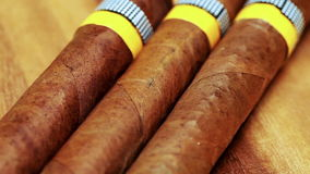 The Cuban cigars, hand made.  stock video