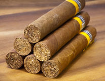 The Cuban cigars, hand made Royalty Free Stock Photos