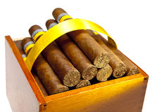 The Cuban cigars, hand made Royalty Free Stock Images