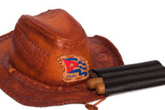 Cuban cigars with hat and case Stock Photo
