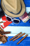 Cuban cigars related items Stock Image
