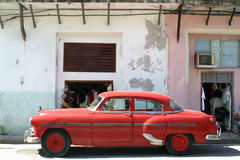 Cuban Classic Car. Classic American car outside old building, Havana, Cuba Stock Photos