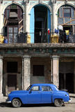 Cuban Classic Car. Classic American car outside old building, Havana, Cuba Stock Photo