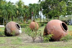 Cuban Clay Pots (Tinajon) Royalty Free Stock Photos
