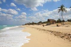 Cuban coast. Cuba - Caribbean beach Playa Megano in Playas del Este part of Havana Province. Sandy coast Royalty Free Stock Images