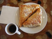 Cuban Coffee and Pastry Royalty Free Stock Photography