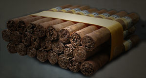 Cuban cohiba cigars. Fresh made cuban cohiba cigars Stock Image