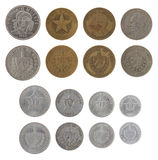 Cuban Coins Isolated on White Stock Image
