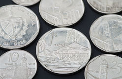 Cuban coins Royalty Free Stock Images