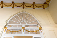 Cuban colonial architecture: ceiling and door details Royalty Free Stock Photos