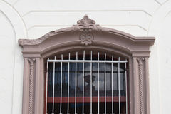 Cuban Colonial Architecture Details in Windows-Las Tunas, Cuba. Cuban colonial architecture details in windows of old houses. Iron work in window guard royalty free stock photos