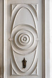 Cuban colonial architecture: Entrance door. At Emilio Bacardi house. Restoration of old buildings provide authentic tourist attractions to the booming industry royalty free stock photos