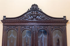 Cuban Colonial Furniture: Carved Solid Wood-Camaguey, Cuba Stock Photos