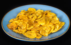 Cuban Cuisine: Green Plantain Chips or Fries Royalty Free Stock Images