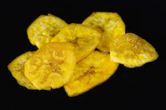 Cuban Cuisine: Green Plantain Chips or Fries Stock Image