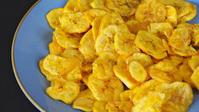Cuban Cuisine: Green Plantain Chips or Fries stock video