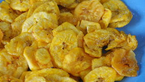 Cuban Cuisine: Green Plantain Chips or Fries stock video footage