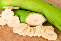 Cuban Cuisine: Green Plantian Banana Chips Royalty Free Stock Images