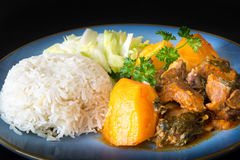 Cuban Cuisine: Lamb Stew Royalty Free Stock Image