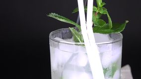 Cuban Cuisine: Mojito cocktail or drink stock video
