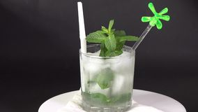 Cuban Cuisine: Mojito cocktail or drink stock video footage