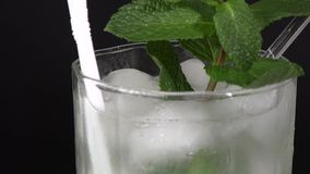 Cuban Cuisine: Mojito cocktail or drink stock footage