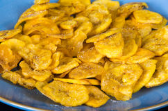 Cuban Cuisine: Plantain Salty Chips Royalty Free Stock Image