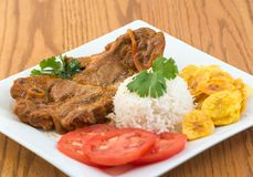 Cuban Cuisine: Stewed Lamb Dish Royalty Free Stock Images