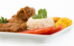 Cuban Cuisine: Stewed Lamb Dish Stock Photos